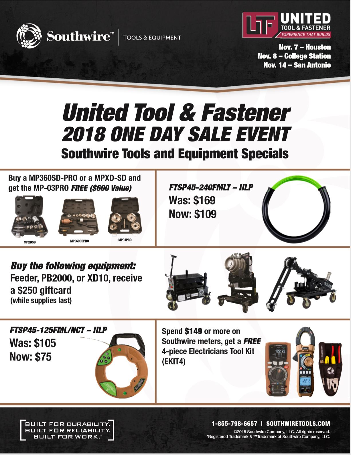 Southwire 2018 One-Day Sale Flyer