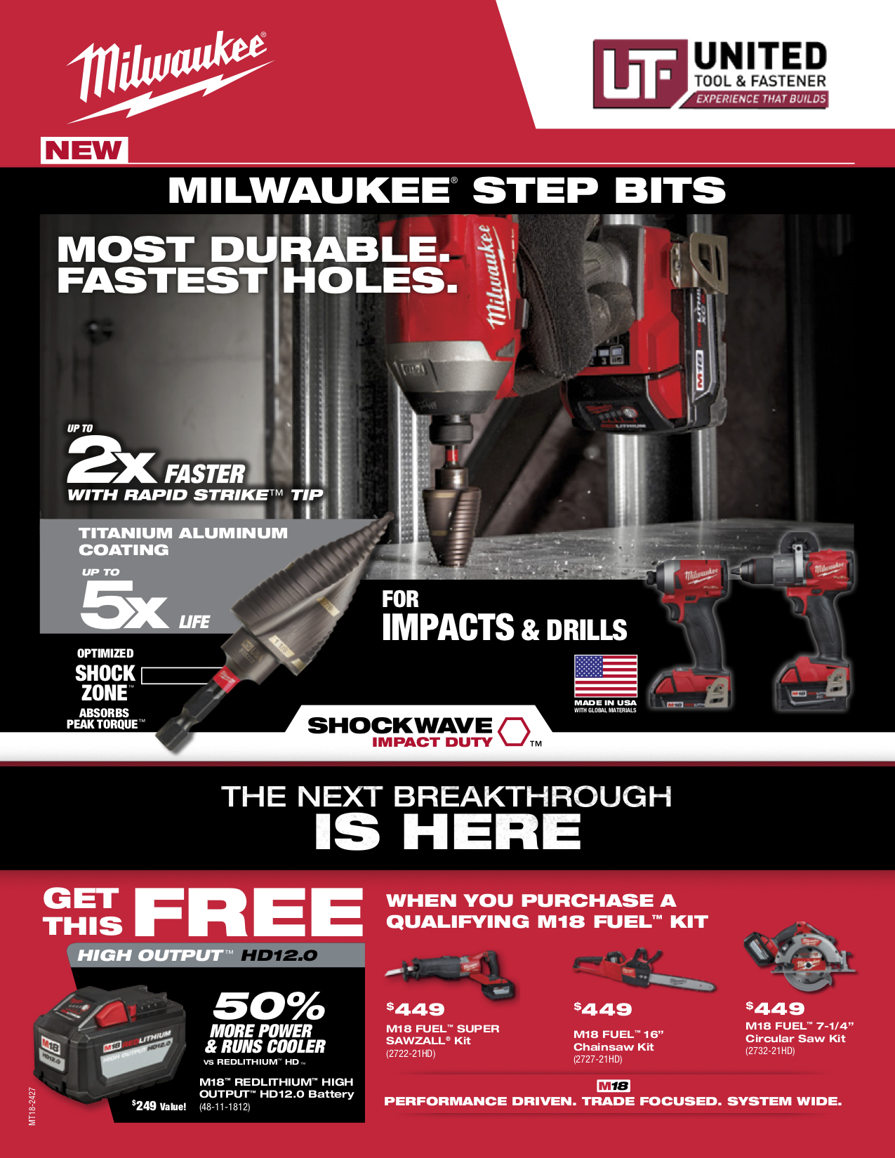 Milwaukee Q4 Specials