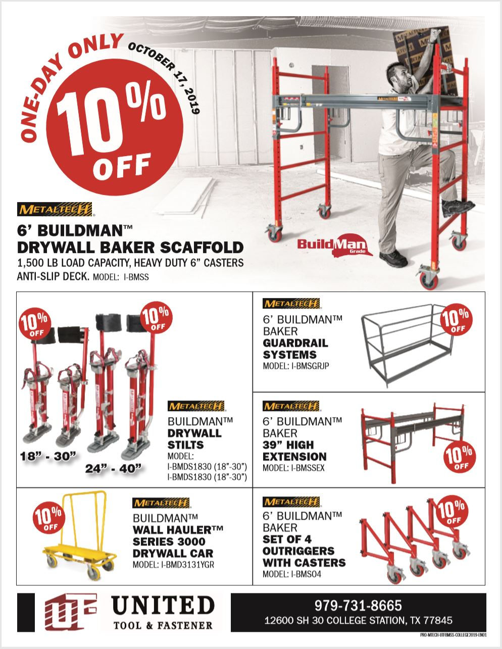 MetalTech College Station One-Day Sale