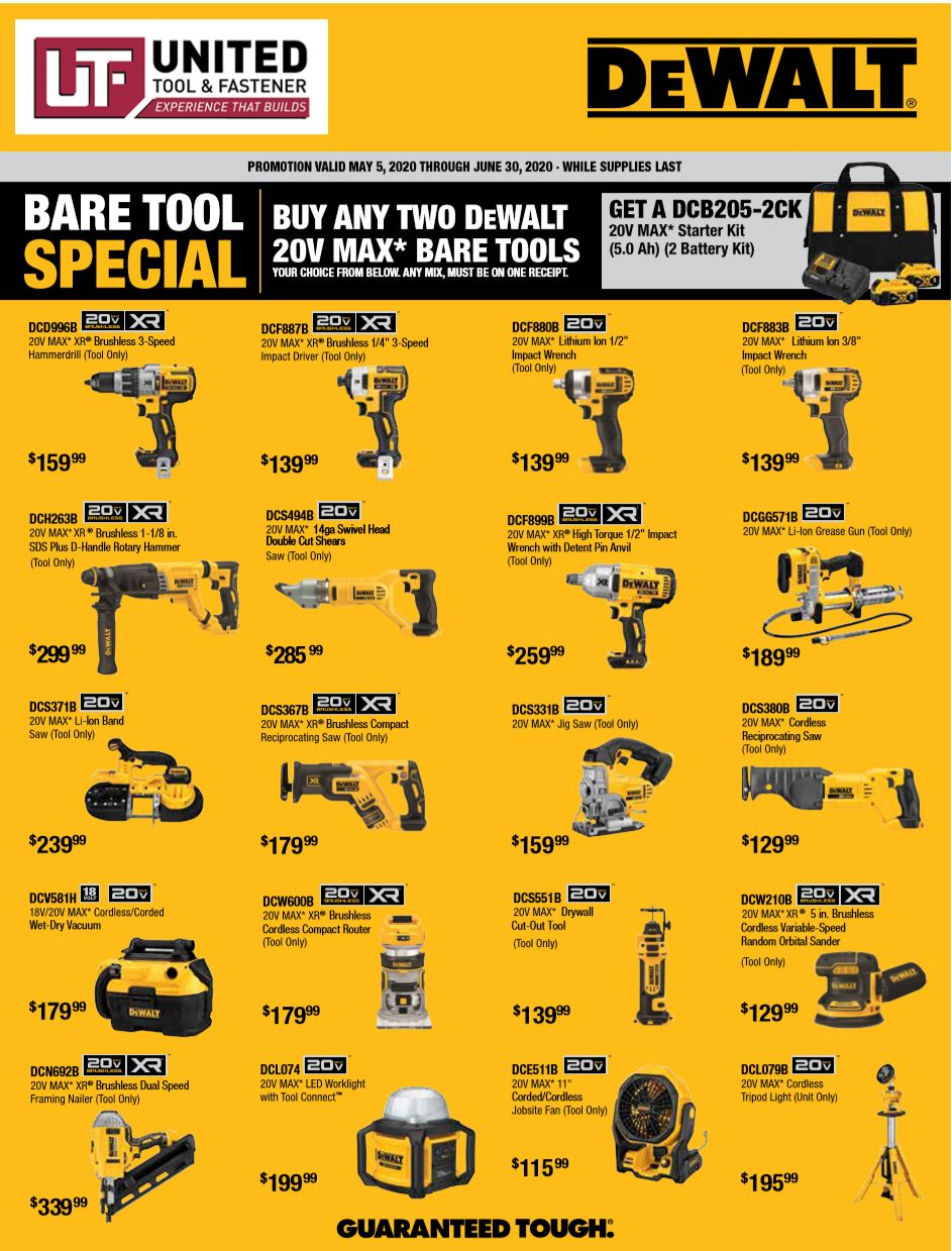 DeWalt Build-Your-Own Bare Kit