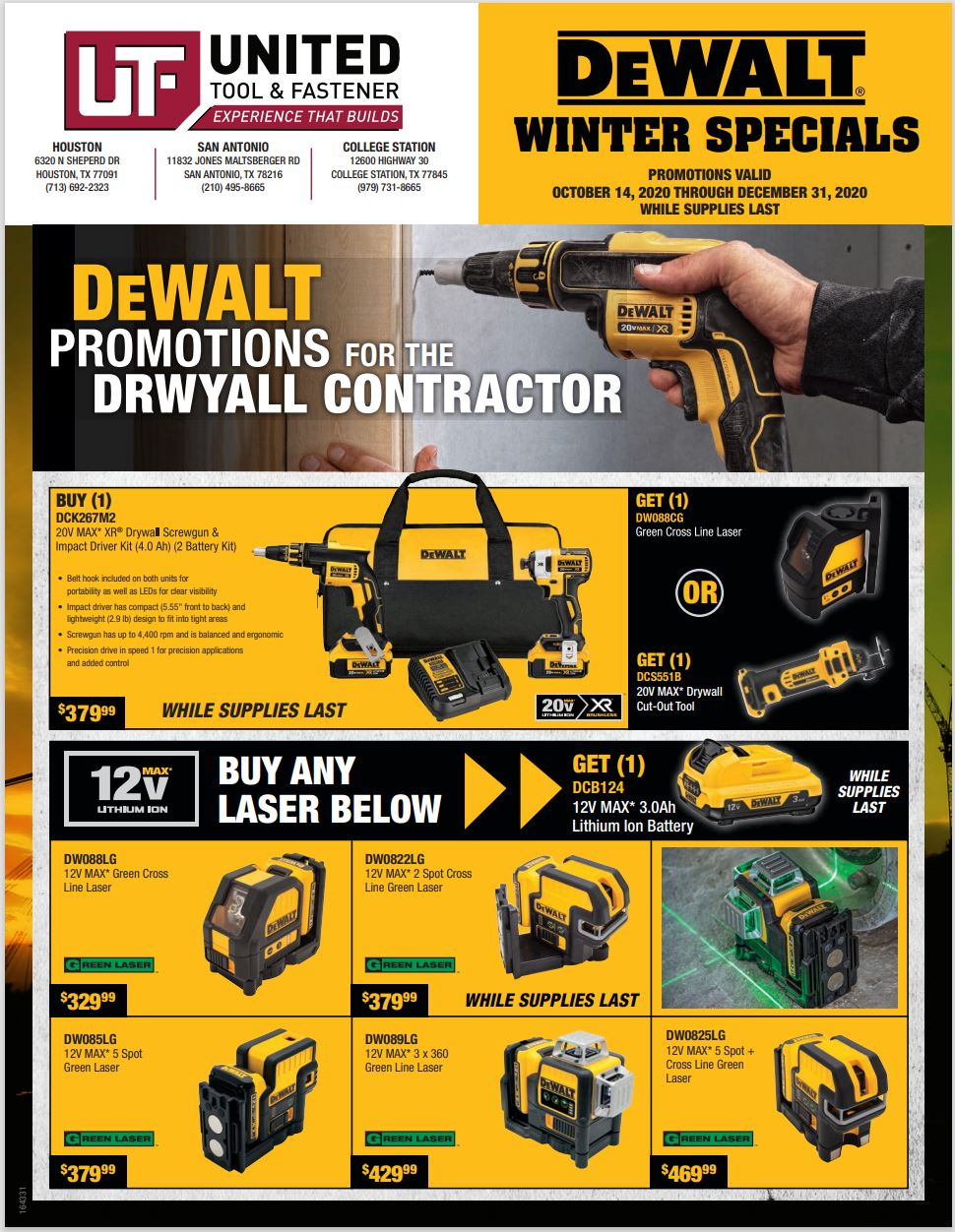 DeWalt Winter 2020 Drywall Sale