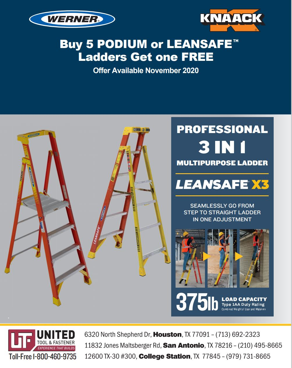 Werner Podium or Leansafe Ladder Promotion
