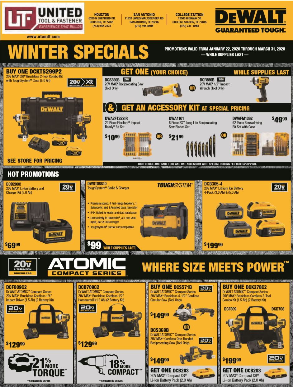 DeWalt Electrical Flyer