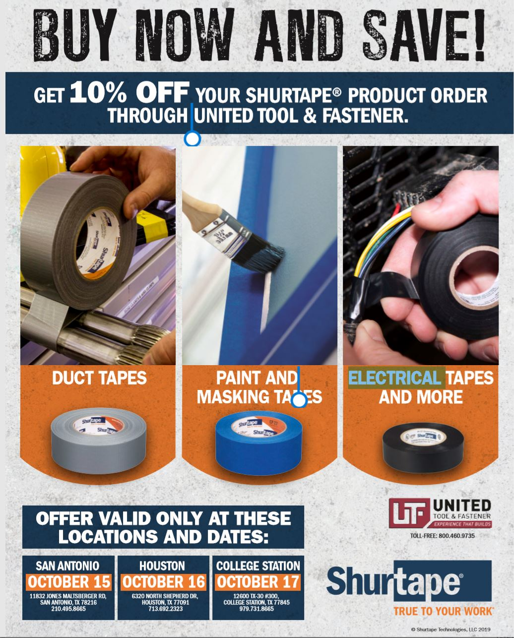 Shurtape One-Day Sale