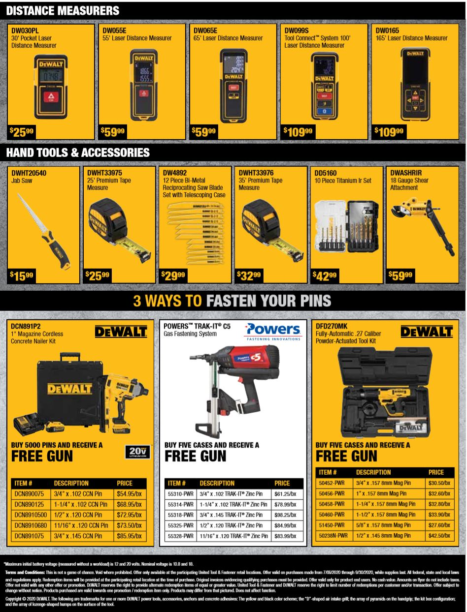 DeWalt Summer 2020 Drywall Specials